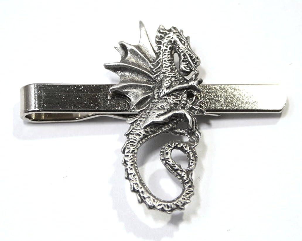 Clip de corbata de dragón (slide) in Fine English Pewter, en caja ...
