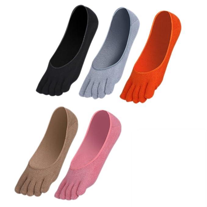 Toe Socks Calcetines De Desodorante De Sudor Calcetines De Running Five Finger Crew Para Hombres Mujer