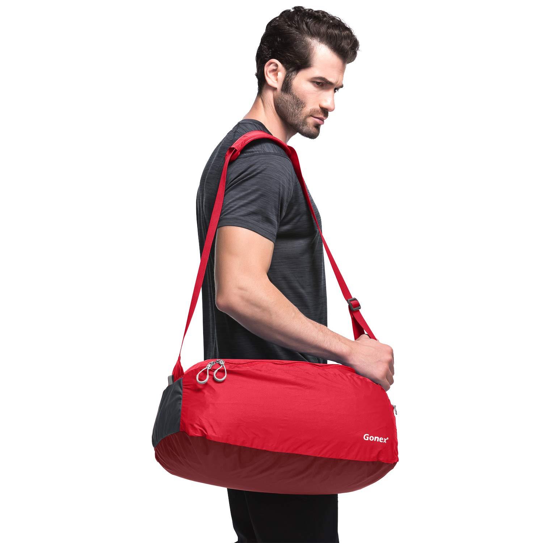 Gonex Small Duffel Bag, Packable Travel Duffle Shoulder Bag 38L 7 Colors Choices
