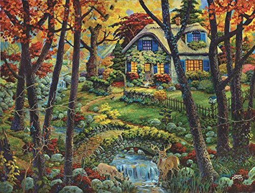 SunsOut Countryside Cottage a 300-Piece Jigsaw Puzzle ()