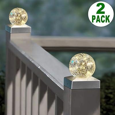 Solar Post Cap Lights 4x4 - Outdoor Waterproof LED Deck Fence Post Cap Lighting
