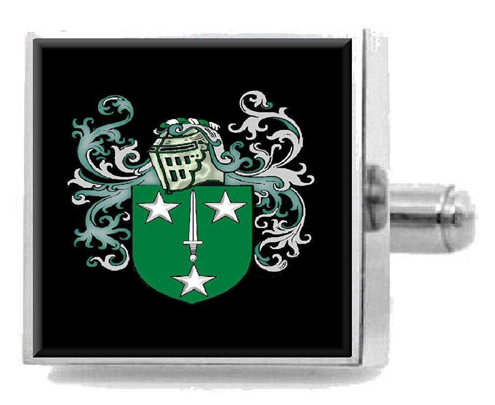 Select Gifts Dixon England Family Crest Surname Coat Of Arms Cufflinks Personalised Case