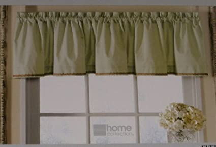 Amazon.com: JC Penney Home Collection Pale Green Window Valance ...