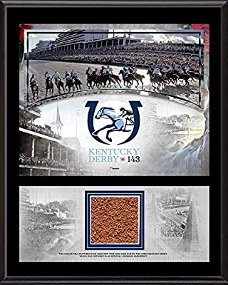 "Kentucky Derby 143 12"" x 15"" Event Sublimated Plaque with Race-Used Dirt from the 143rd Kentucky Derby - Fanatics Authentic Certified"