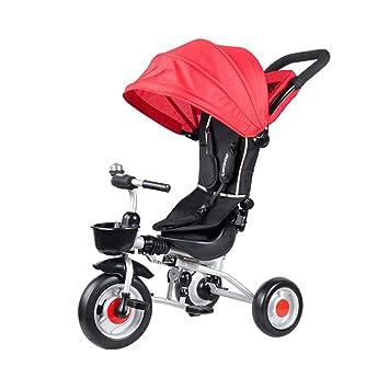 Triciclo 3 en 1 para niños Asiento Giratorio para niños Moto de 3 Ruedas Bicicleta multifunción Carrito de bebé Plegable para niños Cochecitos para niños ...