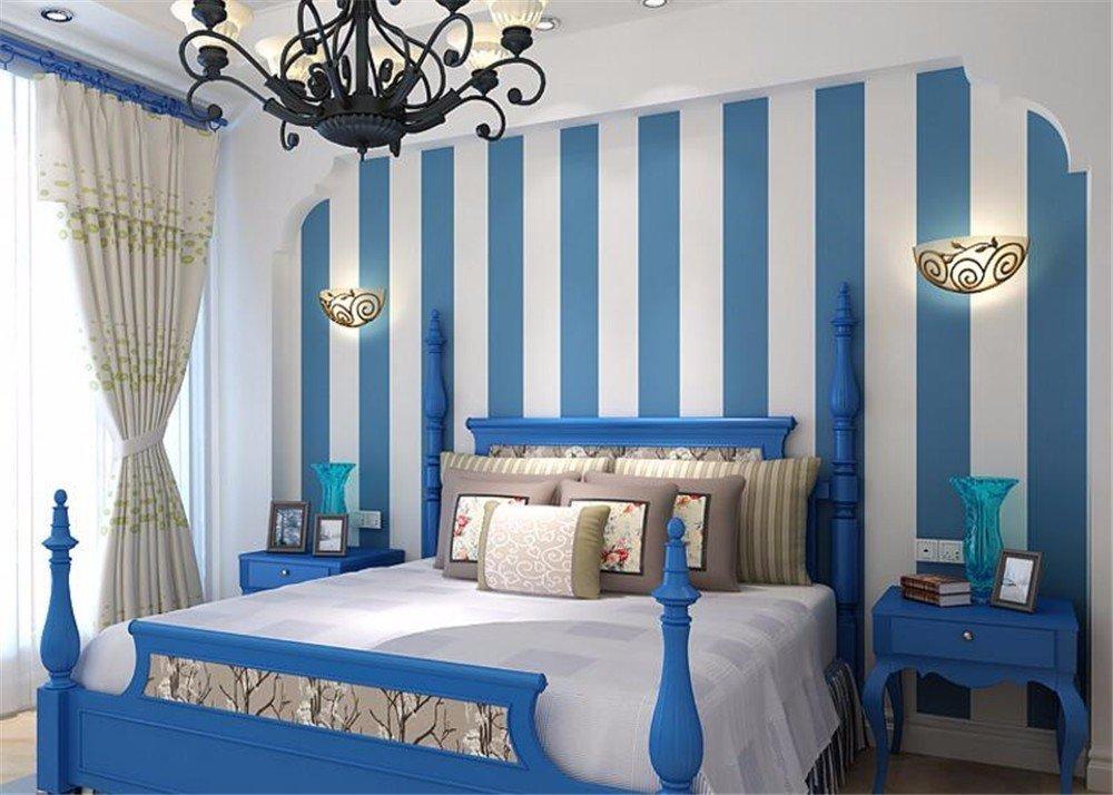 Pareti A Righe Blu : Dididd decorazione da parete il salotto camera da letto