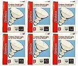 Set of 6 Sunbeam Flood Light Bulb Indoor 530 Brightness Reflector Lumens - 1500 Hours