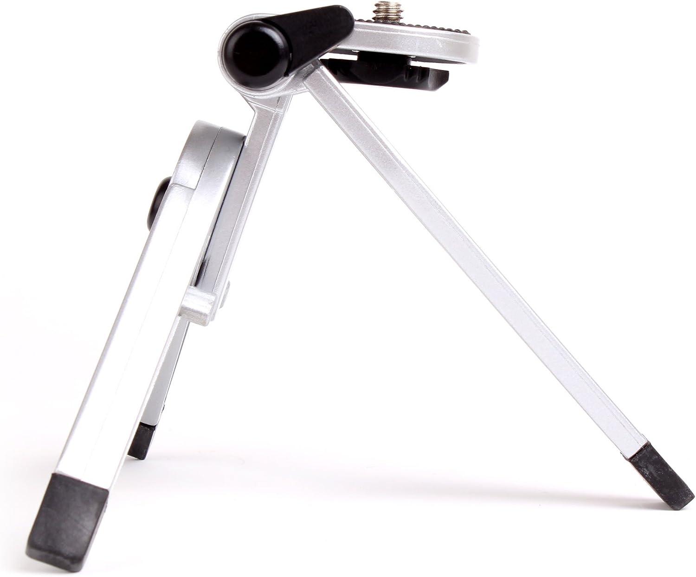 DMC-G2 /& DMC- GF2 Camera DMC-GX1 With Adjustable Feet DMC-TZ20 DURAGADGET Miniature Polymer Tripod For Panasonic Lumix DMC-FT3 LX5
