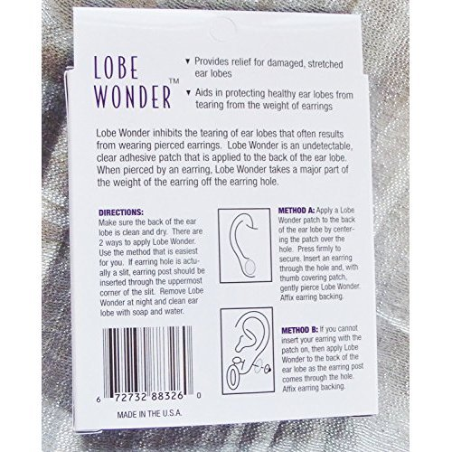 Lobe Wonder Support Patches for Earrings 60 ea (Pack of 4)