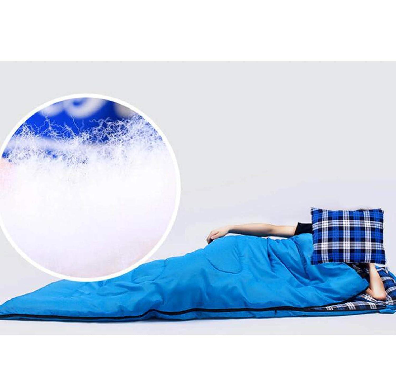 LNYF-OV Bolsa De Dormir Dormir De Al Aire Libre, Invierno, Engrosamiento, Acampada De Franela Impermeable, Azul, Tamaño: 210  75 Cm b0b056