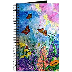 CafePress - Butterfly Garden Journal - Spiral Bound Journal Notebook, Personal Diary, Lined