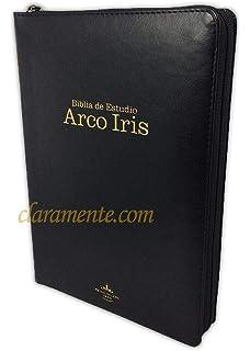 Amazon.com: RVR 1960 Biblia de Estudio Arco Iris, borgoña ...