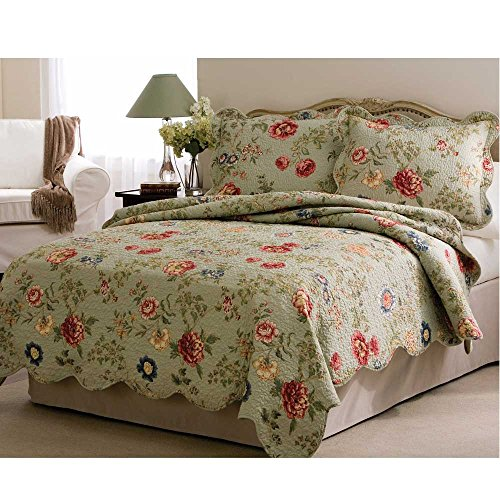 Lifestyle Pem America Edens Garden Quilt with 2 Shams, King