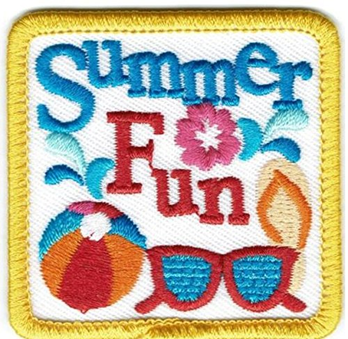 Cub Girl Boy SUMMER CAMP Embroidered Iron-On Fun Patch Crests Badge Scout Guides