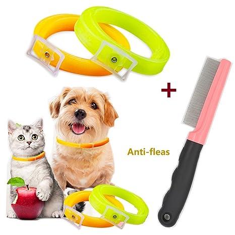 SymbolLife 2 Collares antipulgas y garrapatas para Perros, Gatos, Mascotas, Aceite Esencial,