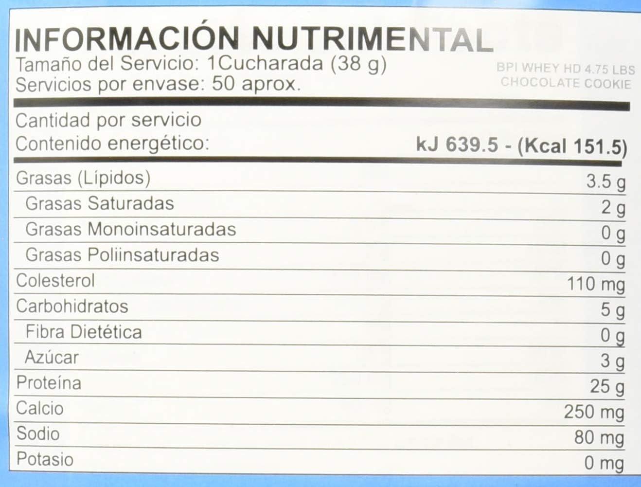Bpi Sports Whey-hd (4lbs) 1850 g 1 Unidad