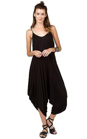 ea5f9c4946b Amazon.com  Love In Women s Solid Color Ladies Spaghetti Strap Loose ...