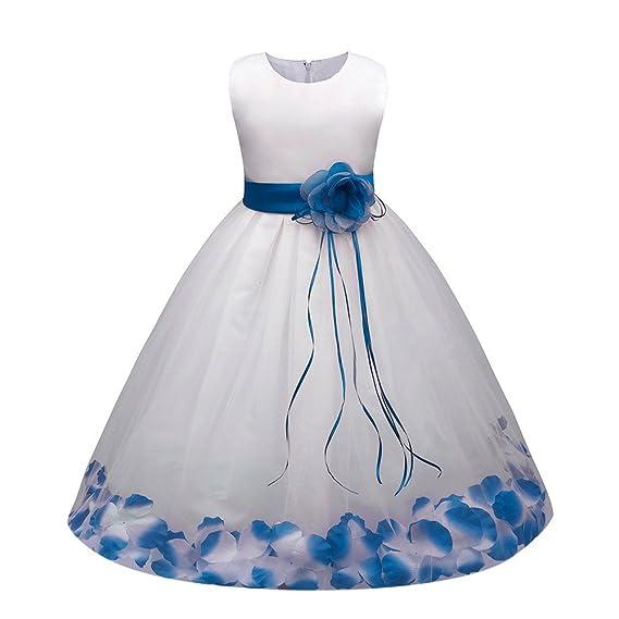 7511e5a42c Vestido de Encaje con Flores Ropa de Boda Fresco Verano para Niñas ...
