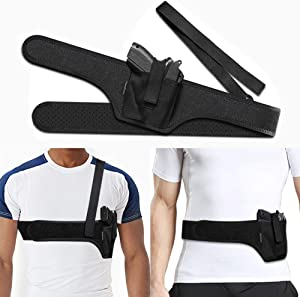 HANDSONIC Deep Concealment Shoulder Holster, Universal Underarm Gun Holster for Men and Women, Fits Subcompact and Compact Pistols