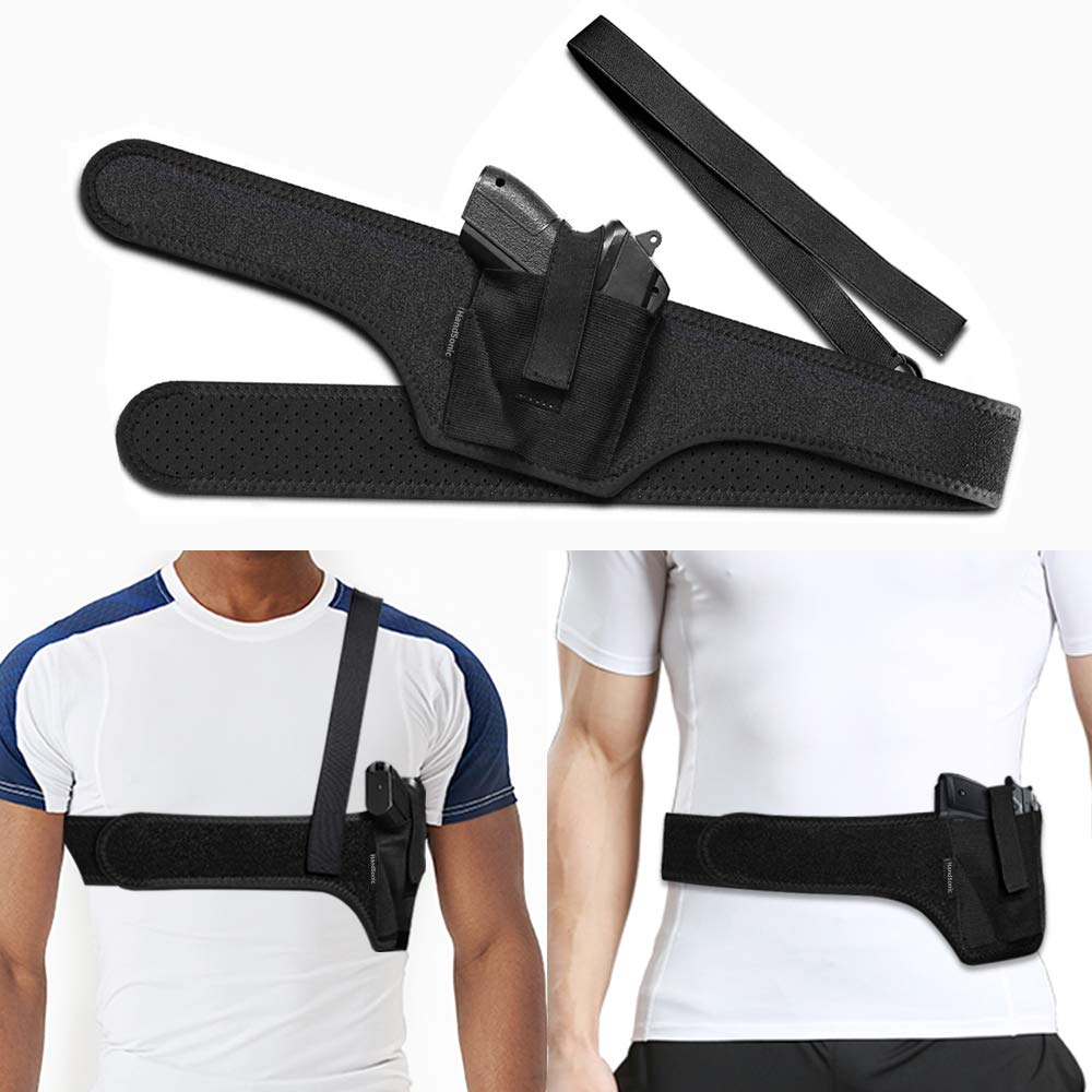 HANDSONIC Deep Concealment Shoulder Holster Universal Underarm Gun Holster for Men and