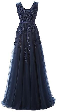 Original feinste Auswahl ein paar Tage entfernt EUDOLAH Damen Abendkleid A-Linie Langes Tuell Ballkleid Brautjungfer  Cocktail Party Kleid