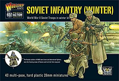 SOVIET WINTER INFANTRY PLASTIC BOX SET, 28mm Bolt Action Wargaming Miniatures from Warlord Games