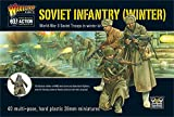 Bolt Action Soviet Infantry Winter Troops 1:56 WWII Military Wargaming Figures Plastic Model Kit