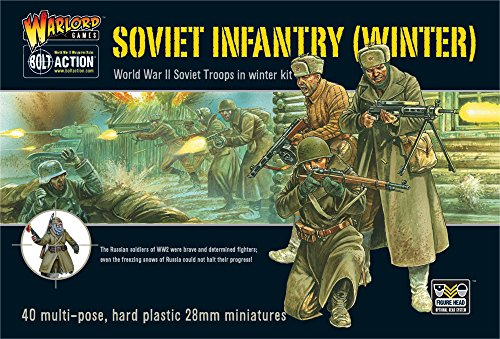 SOVIET WINTER INFANTRY PLASTIC BOX SET, 28mm Bolt - Soviet Military Overcoat