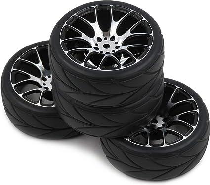 4pcs RC 1//10 On Road Touring Tires Soft Tyres Fit 1:10 Drift hex 12mm alum rims