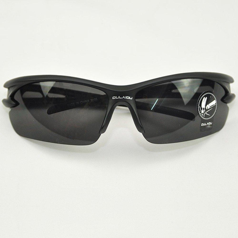 ブラックボディブラックレンズアクティブウェアBiking Cycling GlassesブロックからごみEyes with飛散防止レンズ   B0172CVING