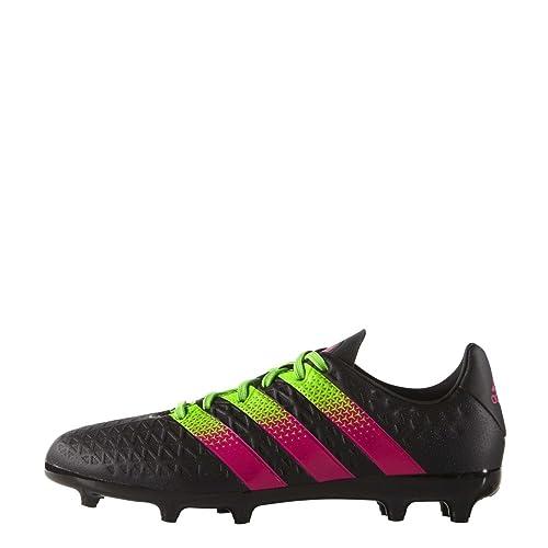official photos ab99e c5e1d adidas Boys Junior Boys ACE 16.3 FG Football Boots in Black Green - UK 4