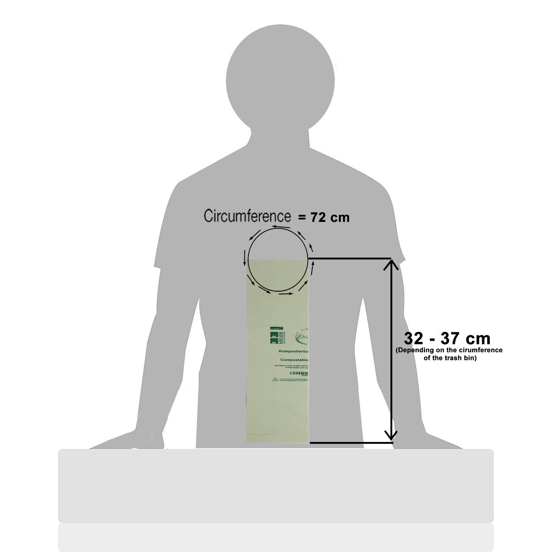 Rascan Bolsa Biodegradable (6 Litros x 200) Las Bolsas de Basura Perfectas Para su Compost. Grueso, Fuerte y Resistente al Desgarro |100% Compostable ...