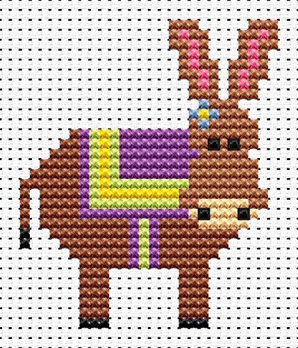 Sew Simple Donkey Cross Stitch Kit by Fat Cat Cross Stitch