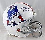 Tom Brady Signed New England Patriots F/S Authentic 65-81 TB Helmet- TriStar Auth Blue