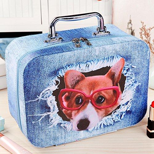 LULANSac cosmétique portant un gros sac de cartouches petit mignon simple cas cosmétique ,25*11.4*18.2cm, jeans porter lunettes grand