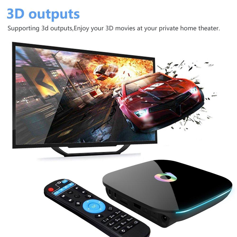 Amazon com: EASYTONE Android 6 0 Smart TV BOX 2GB/16GB/4K