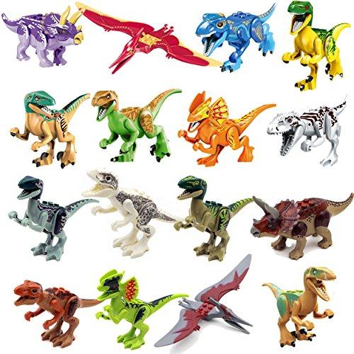 gonggamtop new 16 pcs Jurassic Park Dinosaurs T-Rex Tyrannosaurus Jurassic World Toys