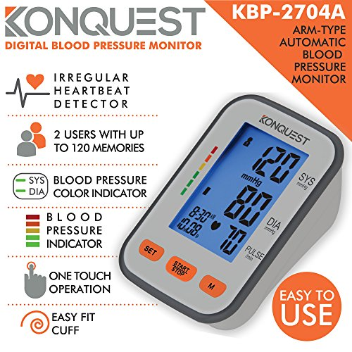 ... FDA Approved - Adjustable Cuff, Large Screen Display, Portable Case - Irregular Heartbeat & Hypertension Detector -Tensiometro: Health & Personal Care