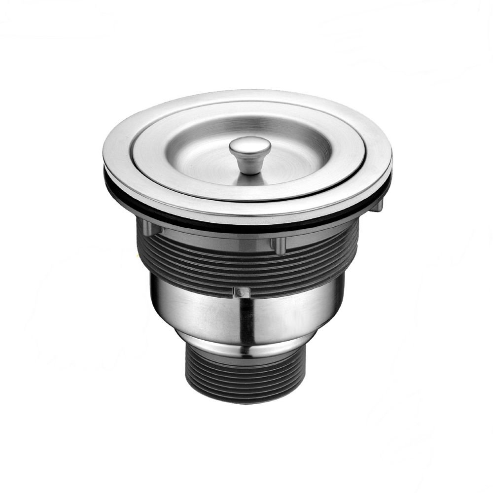 3-1//2-Inch Sink Strainer with Removable Deep Waste Basket//Strainer Assembly//Sealing Lid Szaike Kitchen Sink Drain Stopper Stainless Steel and PP