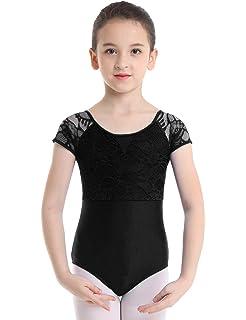 cb145bbac2f6 MSemis Kids Girls' Lace Back/Cirss Cross Gymnastic Camisole Tank Leotard  Sports Outfit