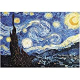PANPRIDE Jigsaw Puzzle 1000 Pieces for Adults and Kids- Oil Painting The Starry Night by Van Gogh- Spending Time Together and Toy Gift for Teens Men Women Family Friends