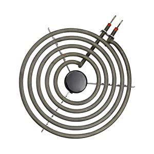 """2100W 230V 8"""" Range Cooktop Stove Replacement Surface Burner MP21YA Coil Heating Element with Tripod Universal Economy Plug-In for Electric Ranges 5 Turns Back Size Flat"""