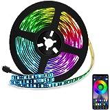 Tira LED de Bluetooth, WINSUNY Luces de Tira LED Controlada por Smartphone APP, Sync to Music, 5050 RGB 6.5 ft / 2 meter, 60