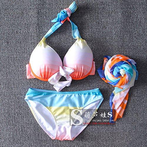 RF Bikini Stilvolle 3. Ecke Suite 3 Grand Prix Stück steigen Badeanzug female