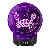 POLENNON Cancer Zodiac 3D Essential Oil Diffuser 7 Color Changing Glass Night Lights Ultrasonic Cool Mist Humidifier