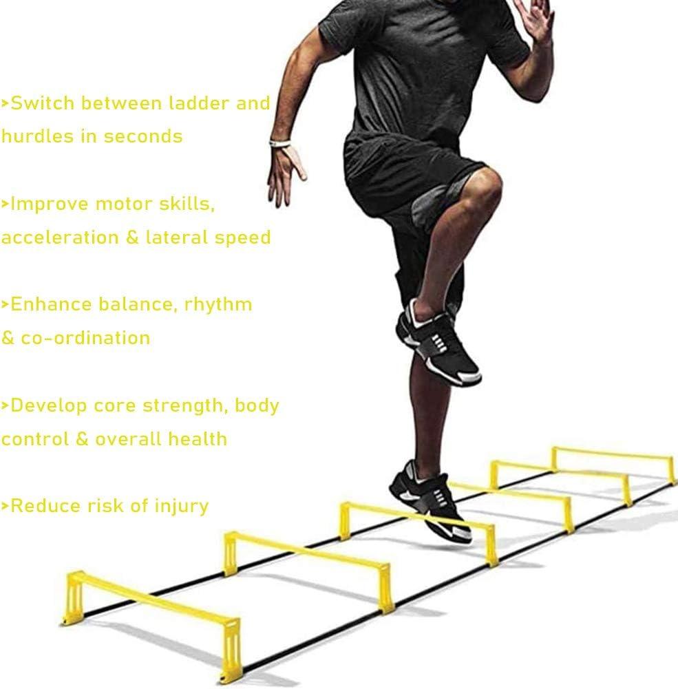 Escalera de elevación de la agilidad de la escalera de la velocidad de entrenamiento de salto de la escalera para la aptitud de la coordinación del ritmo de baloncesto tren del pie