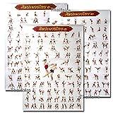 Muay Thai Kickboxing Technical Training Education Poster
