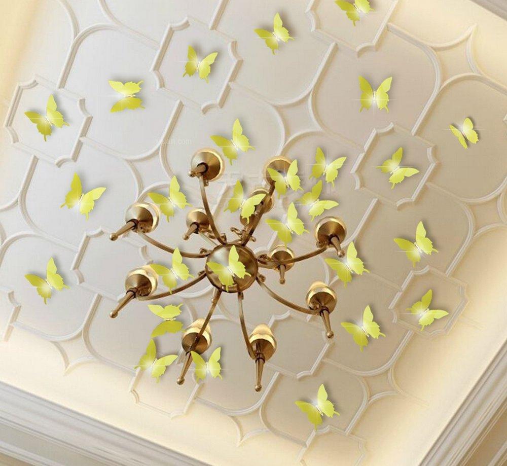 Extsud® 12 Stück 3D Schmetterlings Wandaufkleber Wandsticker ...