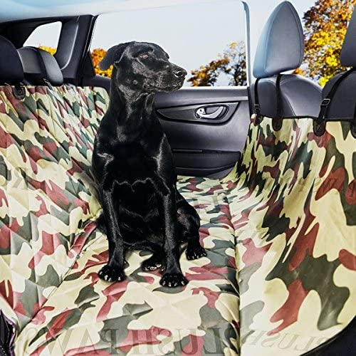 Plush Paws Luxury Dog Car Seat Cover with Hammock for Cars Trucks Heavy Duty, Non-Slip, Waterproof 2 Bonus Seat Belts and Harnesses
