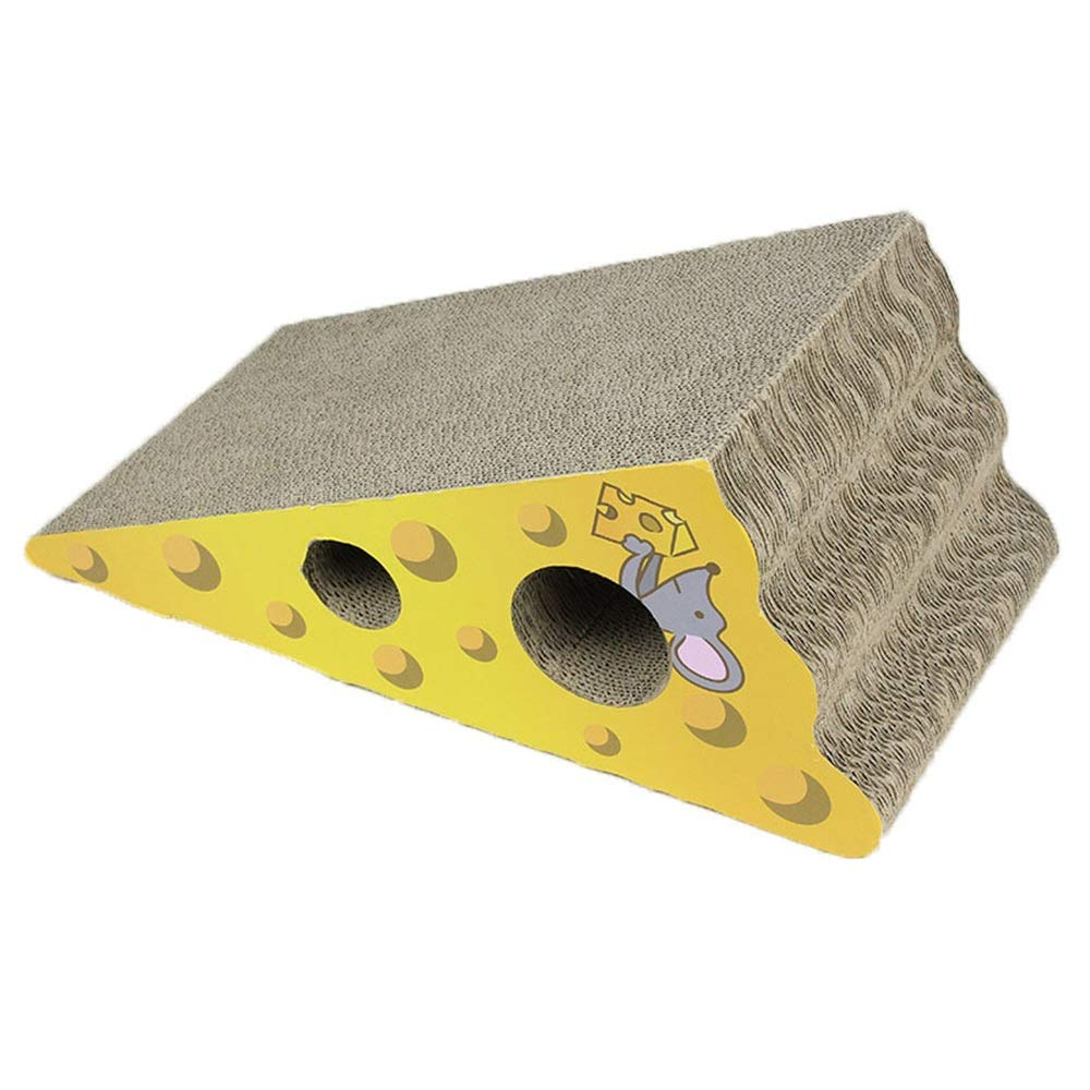 Wedge Shaped Corrugated Cardboard, Natural Incline More Ergonomic, Cutouts to Hide Toys 17.12  8.26  7.87